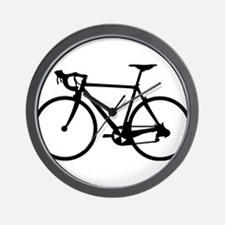 Racer Bicycle black Wall Clock
