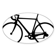 Racer Bicycle black Oval Decal