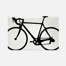 Racer Bicycle black Rectangle Magnet