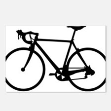 Racer Bicycle black Postcards (Package of 8)