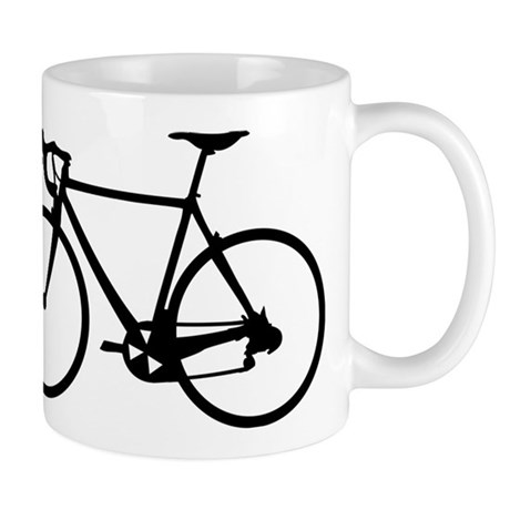 Racer Bicycle black Mug
