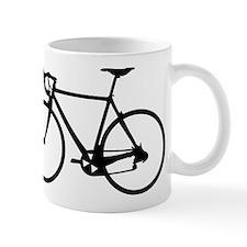 Racer Bicycle black Small Mug