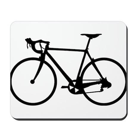 Racer Bicycle black Mousepad