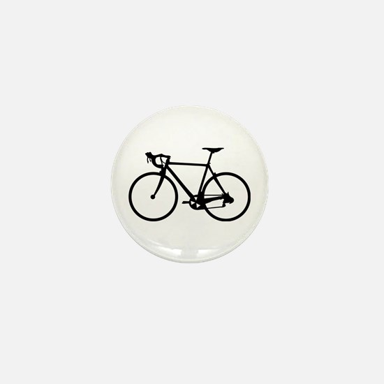 Racer Bicycle black Mini Button