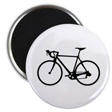 Racer Bicycle black Magnet