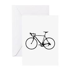 Racer Bicycle black Greeting Card