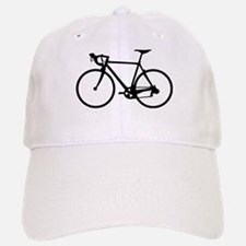 Racer Bicycle black Baseball Baseball Cap