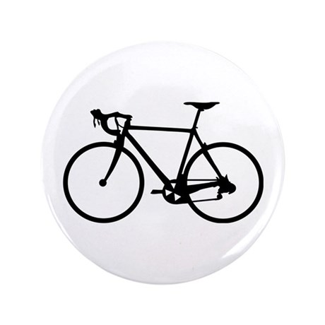 """Racer Bicycle black 3.5"""" Button (100 pack)"""