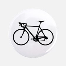"""Racer Bicycle black 3.5"""" Button"""