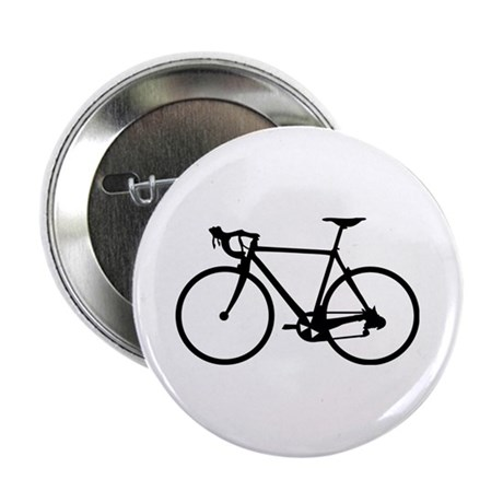 """Racer Bicycle black 2.25"""" Button"""