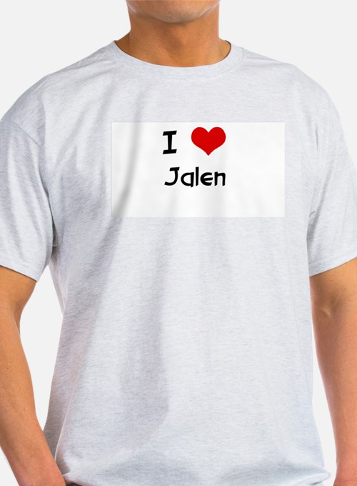 I LOVE JALEN Ash Grey T-Shirt