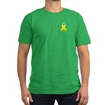 Yellow Awareness Ribbon Men's Fitted T-Shirt (dark
