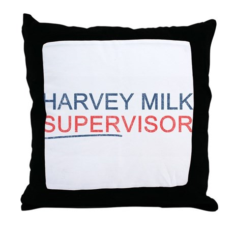 Harvey Milk Supervisor Throw Pillow