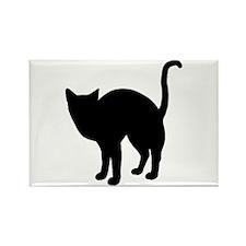 Black Cat Silhouette Rectangle Magnet (100 pack)