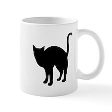 Black Cat Silhouette Mug