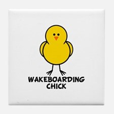 Wakeboarding Chick Tile Coaster