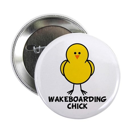"""Wakeboarding Chick 2.25"""" Button (10 pack)"""