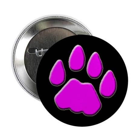 """Mountain Lion Cougar Track 2.25"""" Button (10 pack)"""