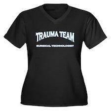 Trauma Team ST - white Women's Plus Size V-Neck Da