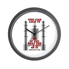 You Can Lick It Wall Clock, Oil Patch Clock,Gas