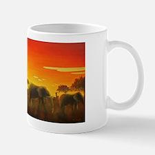 Elephants at Sunset Mug
