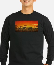 Elephants at Sunset T