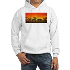 Elephants at Sunset Hoodie