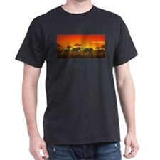 Elephants at Sunset T-Shirt