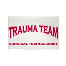 Trauma Team ST - pink Rectangle Magnet (10 pack)