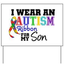 Autism Ribbon Son Yard Sign