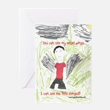 Angel Wings and Little Things Greeting Card