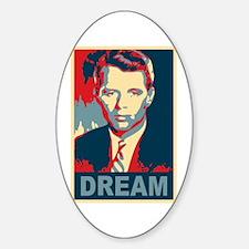 RFK DREAM Artistic Oval Decal