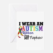 Autism Ribbon Nephew Greeting Card