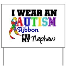 Autism Ribbon Nephew Yard Sign