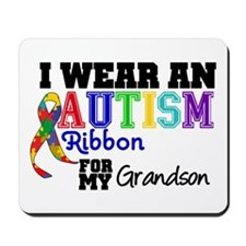 Autism Ribbon Grandson Mousepad
