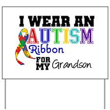Autism Ribbon Grandson Yard Sign