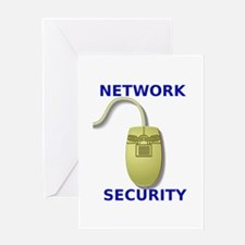 Network Security Mouse Design Greeting Card