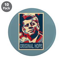 """JFK ORIGINAL HOPE Pop Art 3.5"""" Button (10 pack)"""