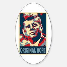 JFK ORIGINAL HOPE Pop Art Oval Decal