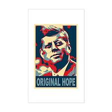 JFK ORIGINAL HOPE Pop Art Rectangle Decal