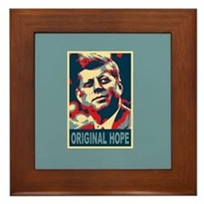 JFK ORIGINAL HOPE Pop Art Framed Tile