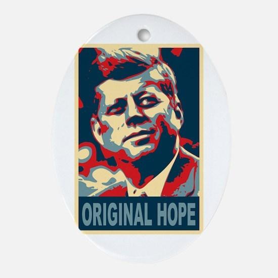 JFK ORIGINAL HOPE Pop Art Oval Ornament