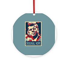 JFK ORIGINAL HOPE Pop Art Ornament (Round)