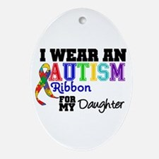 Autism Ribbon Daughter Oval Ornament