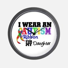 Autism Ribbon Daughter Wall Clock