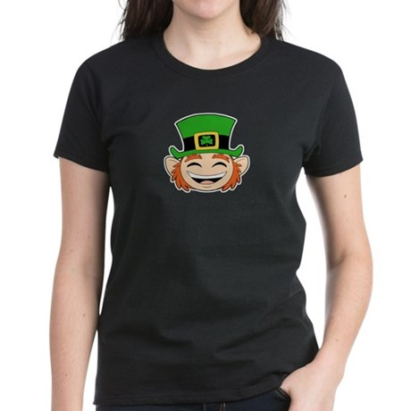 Skuzzo Leprechaun Face Women's Dark T-Shirt