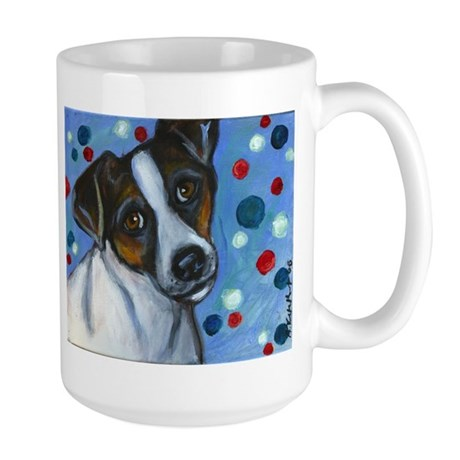 Portrait of a Jack Russell Large Mug