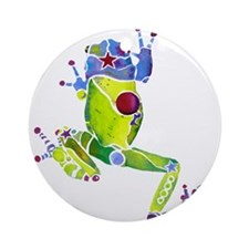 Frog Spring Green Ornament (Round)