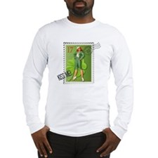 St. Patricks Day Stamp Pin-Up Long Sleeve T-Shirt