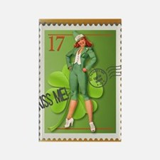 St. Patricks Day Stamp Pin-Up Rectangle Magnet